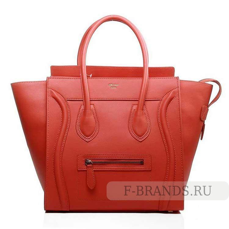 celine luggage красная в интернет магазине