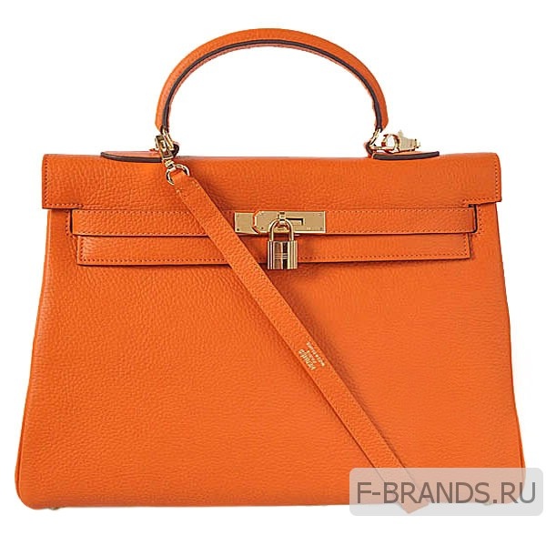Сумка Hermes Kelly 35 оранжевая