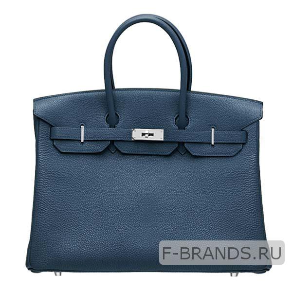 Сумка Hermes Birkin 35 синяя