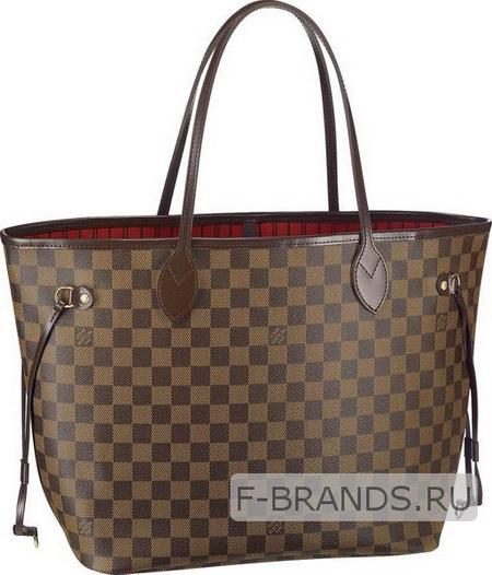Сумка Louis Vuitton Neverfull коричневая