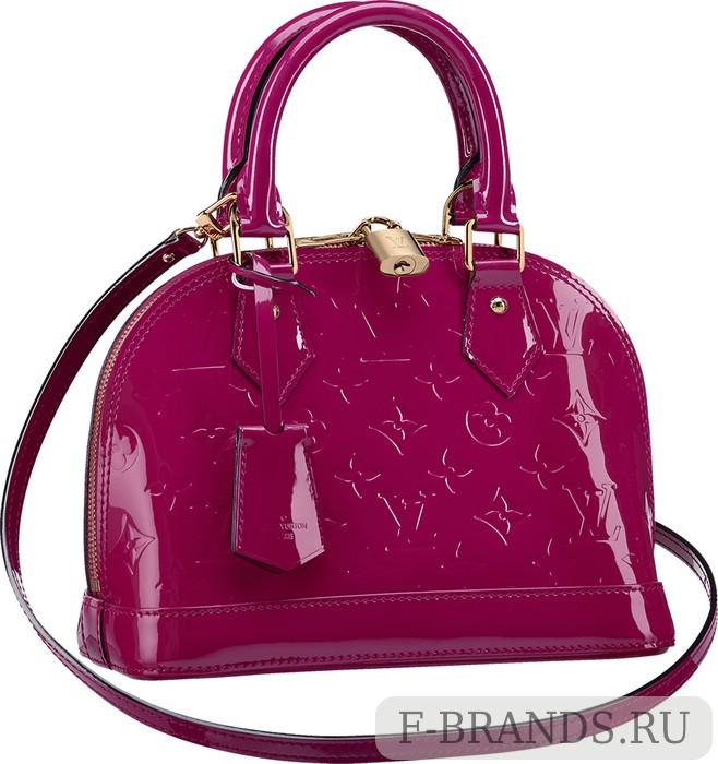 Сумка Louis Vuitton Alma BB Ярко-розовая лакированная