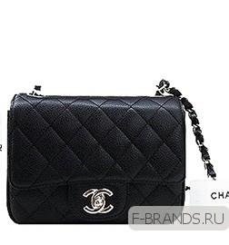 Caviar Mini Flap Bag икор.кожа Premium черная