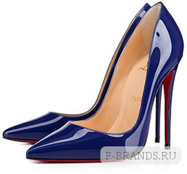 Туфли Christian Louboutin So Kate синего цвета 120мм (Premium качество)