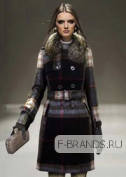 Шерстяное Пальто Burberry черное