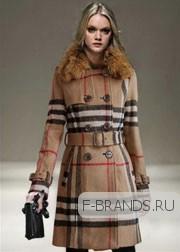 Шерстяное Пальто Burberry бежевое