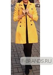 Шерстяное Пальто Gucci желтое