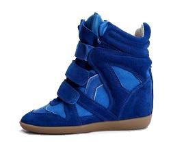 Кроссовки Isabel Marant синие замшевые