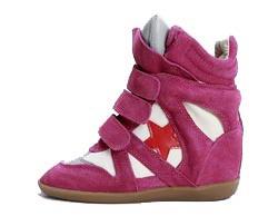 Кроссовки Isabel Marant розовые замшевые