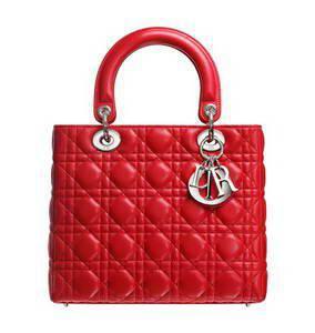 купить красну сумку Lady Dior 24см