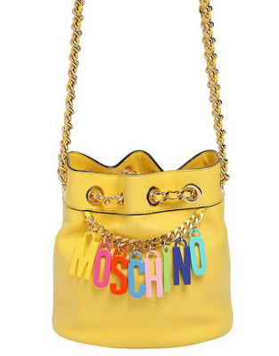 Сумка Moschino Logo Charm Mini Bucket Bag