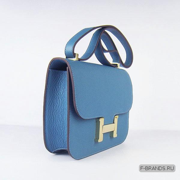 Hermes Constance 23 Голубая Togo