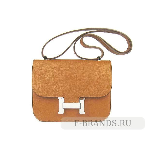 Сумка Hermes Constance 23 светло-коричневая