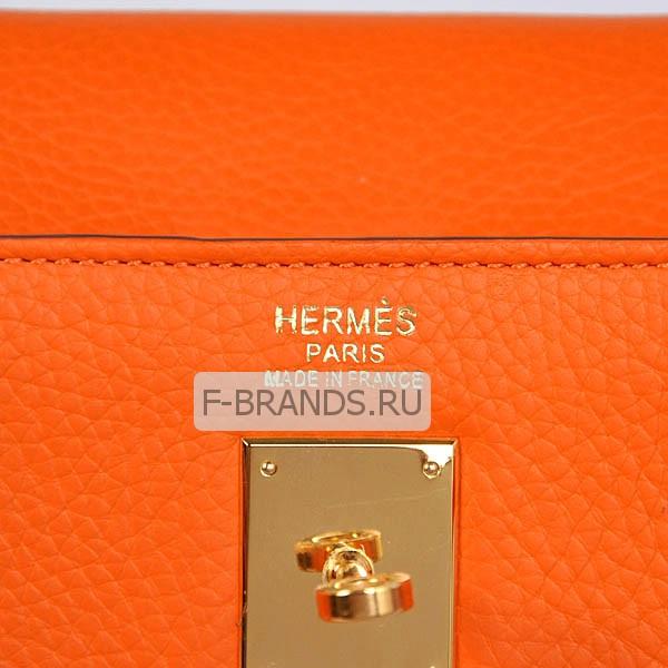 Hermes Kelly 35 Оранжевая Togo