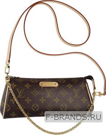Клатч Louis Vuitton Eva Clutch коричневый с окантовкой