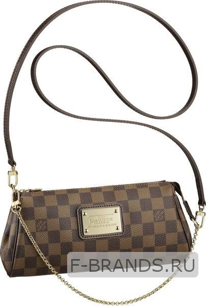Клатч Louis Vuitton Eva Clutch коричневый