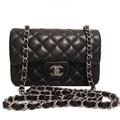 Classic Flap bag 20 см mini черная (Premium качество)
