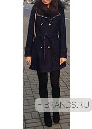 Шерстяное Пальто Burberry синее