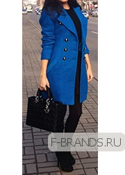 Шерстяное Пальто Gucci синее