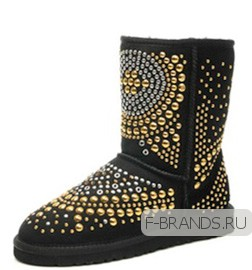 Сапоги UGG & Jimmy Choo черные
