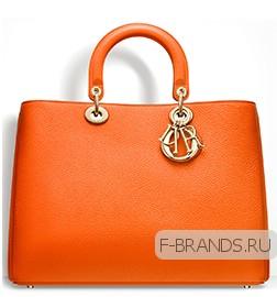 купить оранжевую сумку Diorissimo премиум