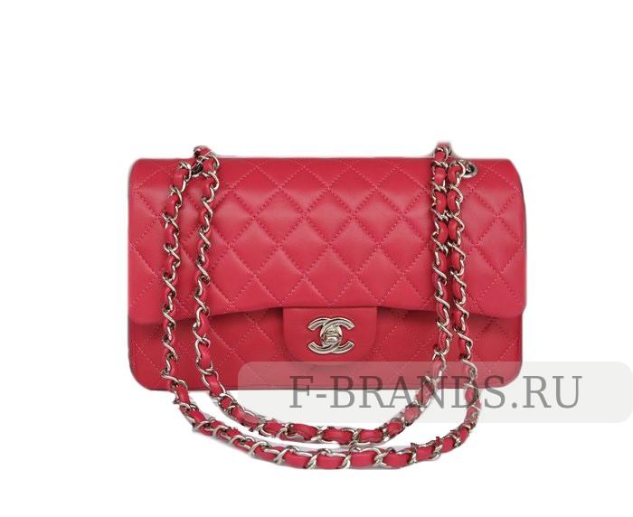 Сумка Chanel Classic Flap bag розовая (Premium качество)