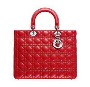 купить красную сумку Lady Dior 32