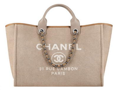 Сумка Chanel Large Toile Logo Shopping Tote